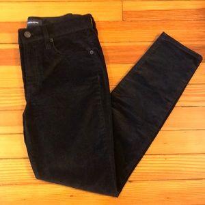 J Crew Black velvet skinny jean